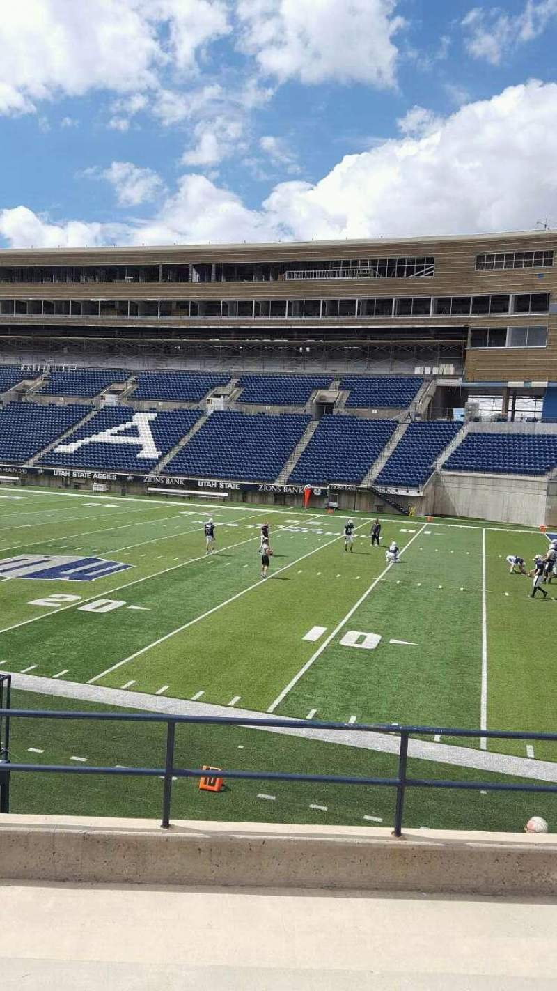 Seating view for Maverik Stadium Section 12 Row 14 Seat 5