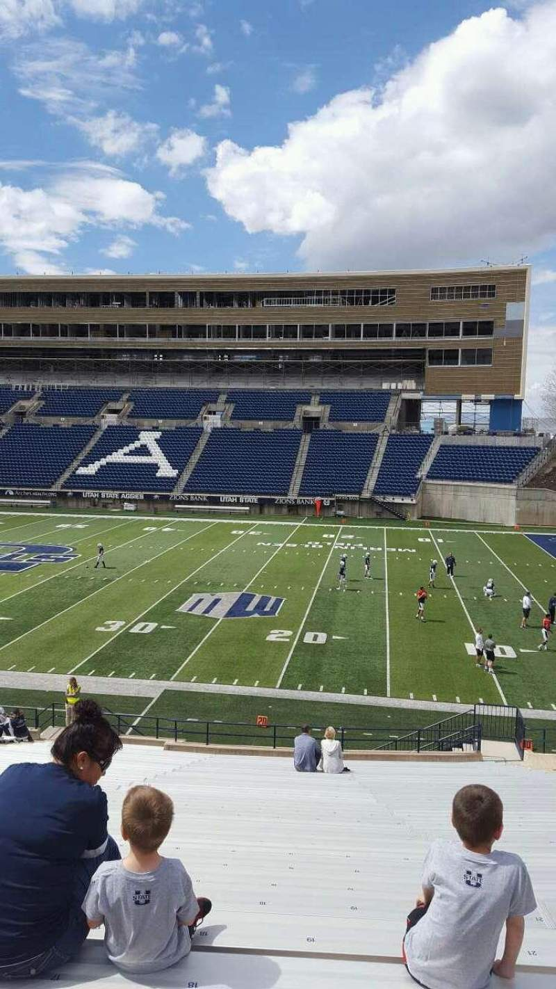 Seating view for Maverik Stadium Section 13 Row 31 Seat 20