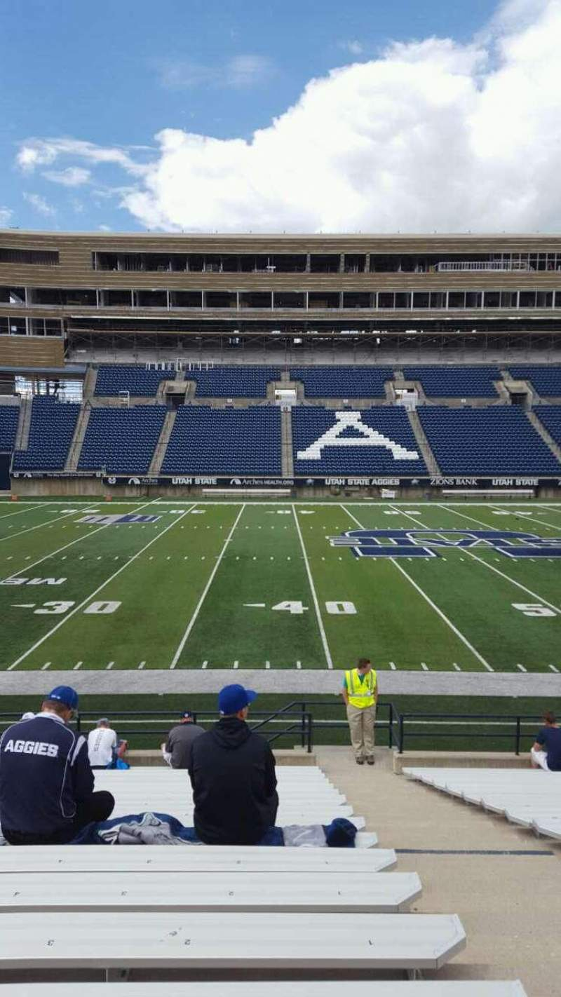 Seating view for Maverik Stadium Section 16 Row 17 Seat 2