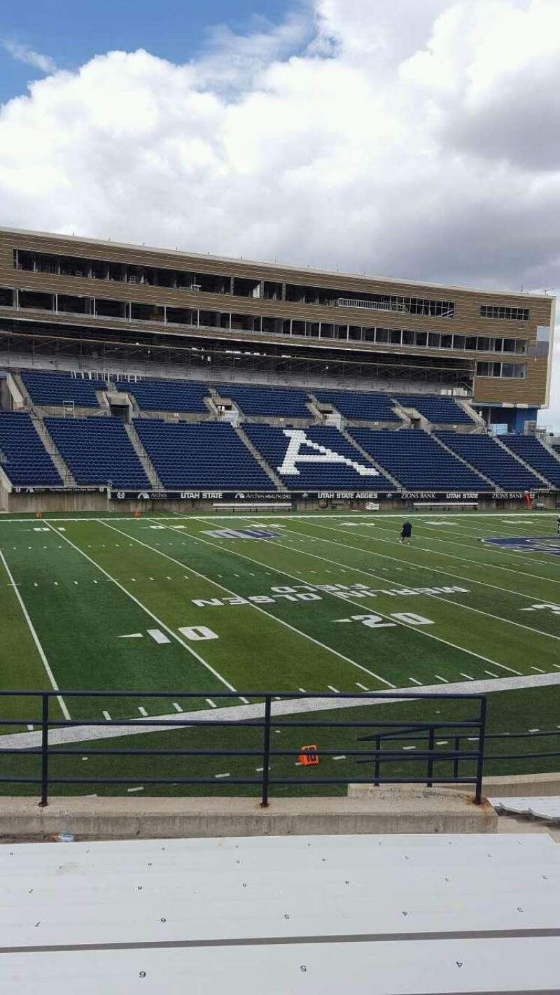 Seating view for Maverik Stadium Section A Row 9 Seat 6