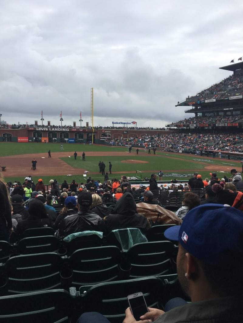 Seating view for Oracle Park Section 124 Row 29 Seat 16