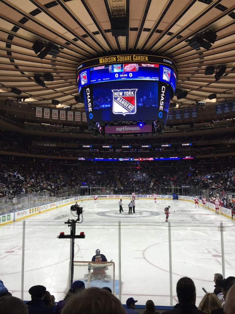 Seating view for Madison Square Garden Section 102 Row 8 Seat 13