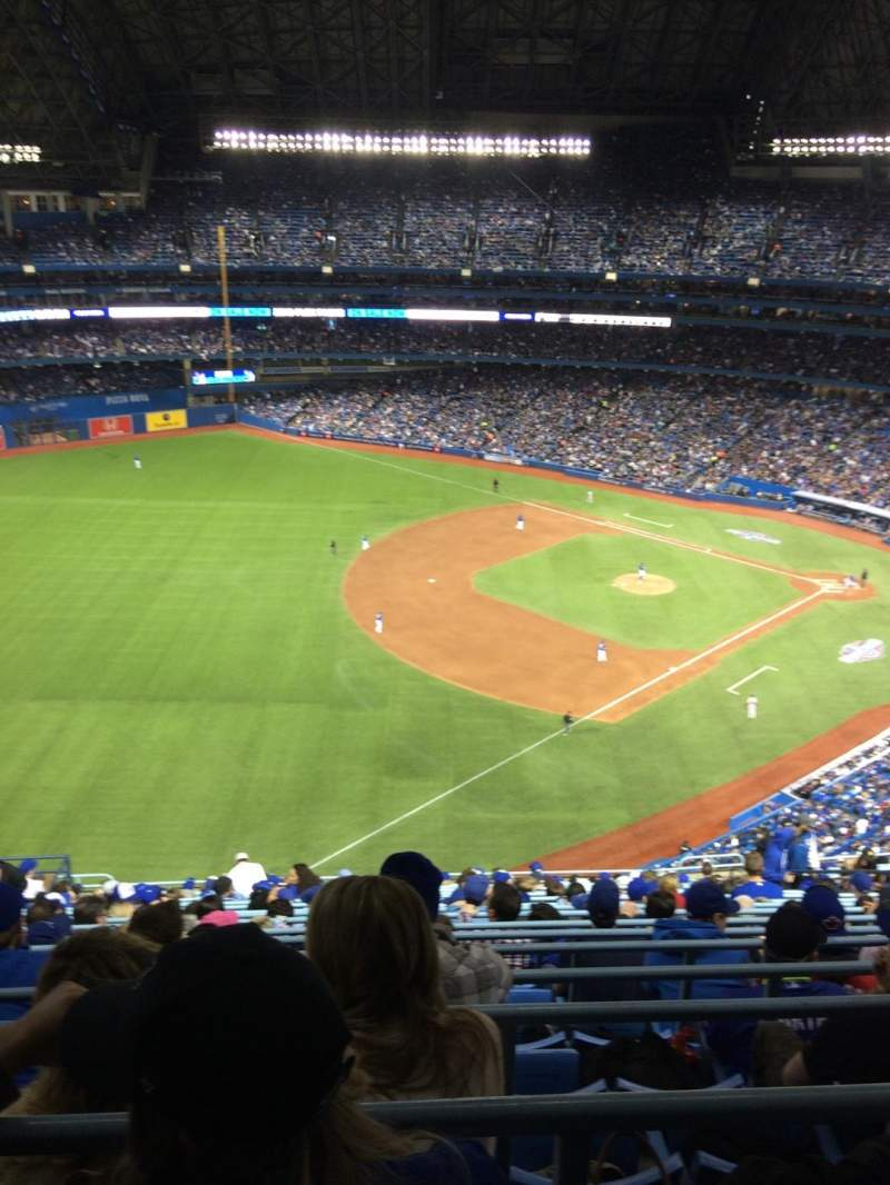 Seating view for Rogers Centre Section 536 Row 20 Seat 13