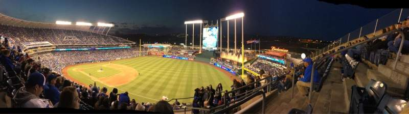 Seating view for Kauffman Stadium Section 435 Row BB Seat 24