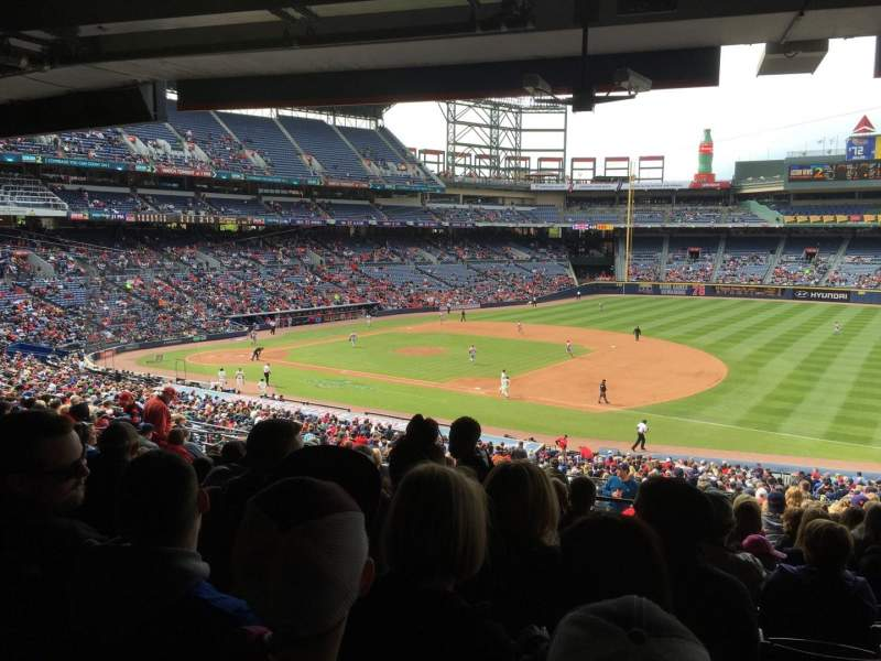 Seating view for Turner Field Section 219 Row 16 Seat 110