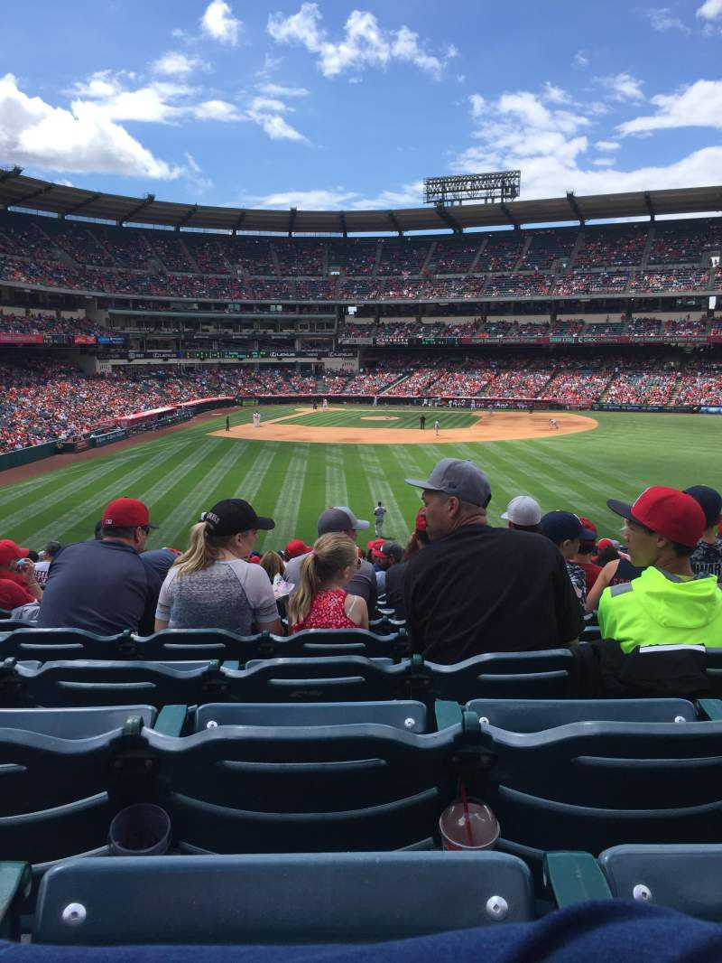 Seating view for Angel Stadium Section P237 Row Z Seat 8