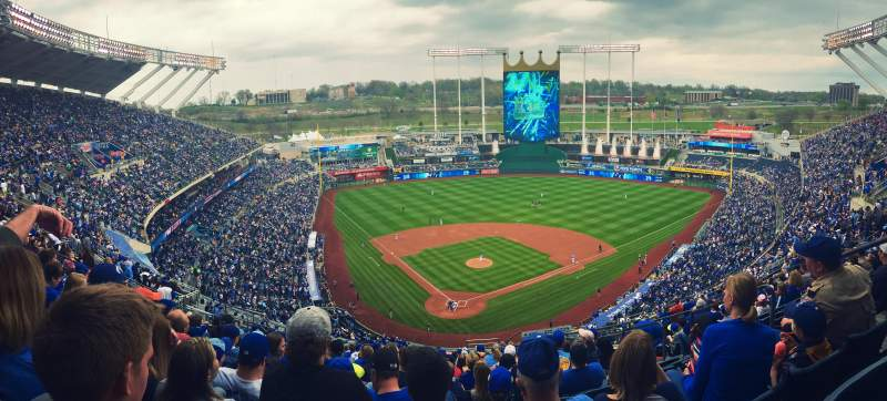 Seating view for Kauffman Stadium Section 421 Row Kk Seat 22