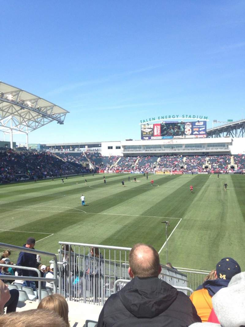 Seating view for Talen Energy Stadium Section 135 Row P Seat 24