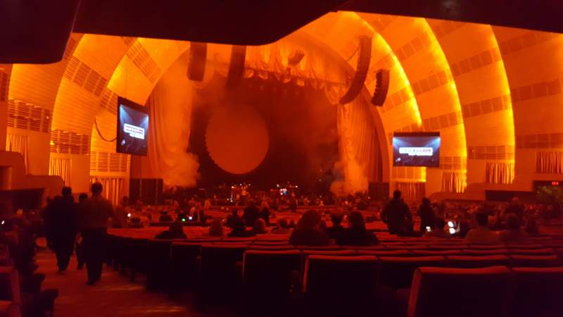 Seating view for Radio City Music Hall Section Orchestra 7 Row R Seat 701