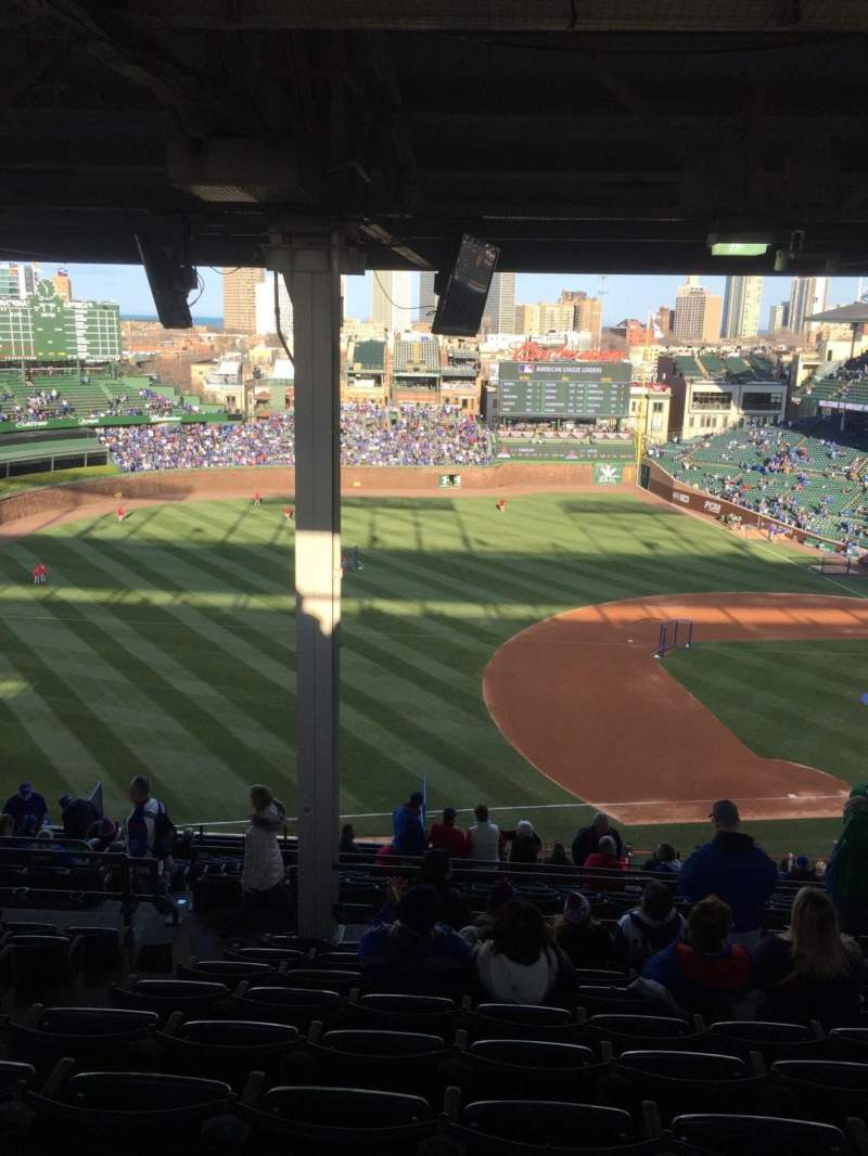 Seating view for Wrigley Field Section 509 Row 9 Seat 3