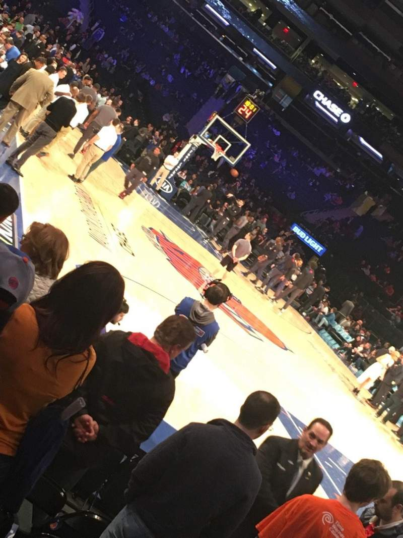 Seating view for Madison Square Garden Section 7 Row 7 Seat 1