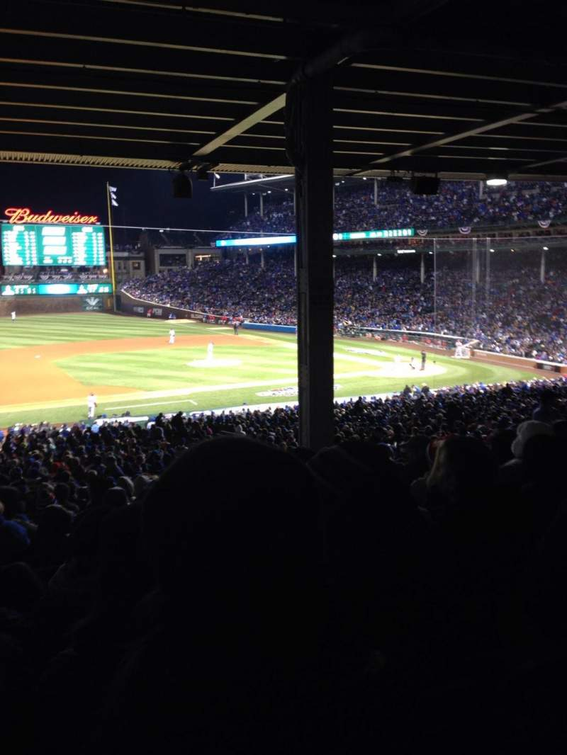 Seating view for Wrigley Field Section 211 Row 16 Seat 12