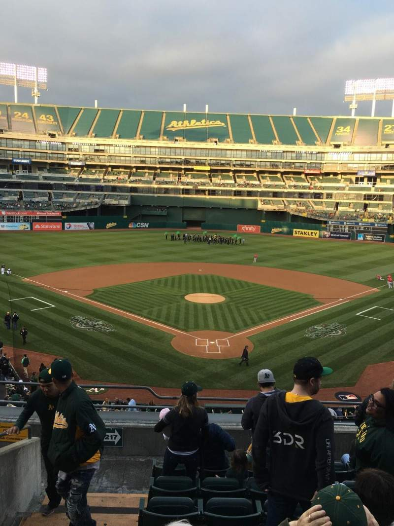 Seating view for Oakland Alameda Coliseum Section 217 Row 8 Seat 13