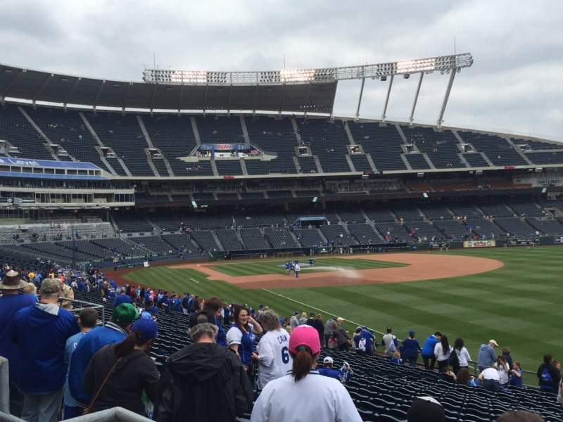 Seating view for Kauffman Stadium Section 246 Row BB Seat 5