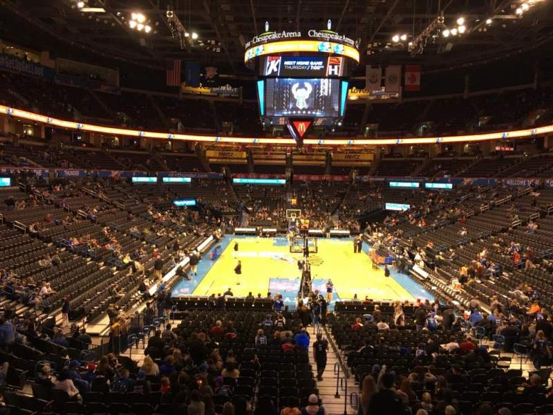 Seating view for Chesapeake Energy Arena Section 101