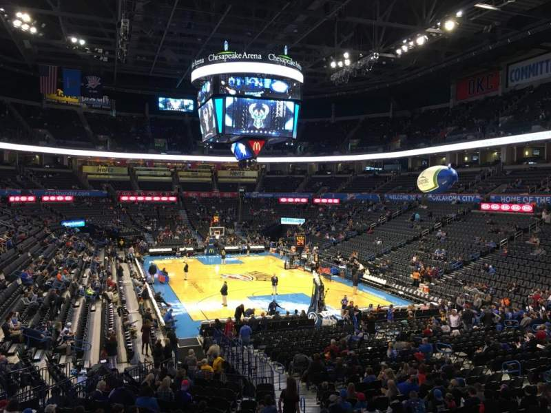 Seating view for Chesapeake Energy Arena Section 102
