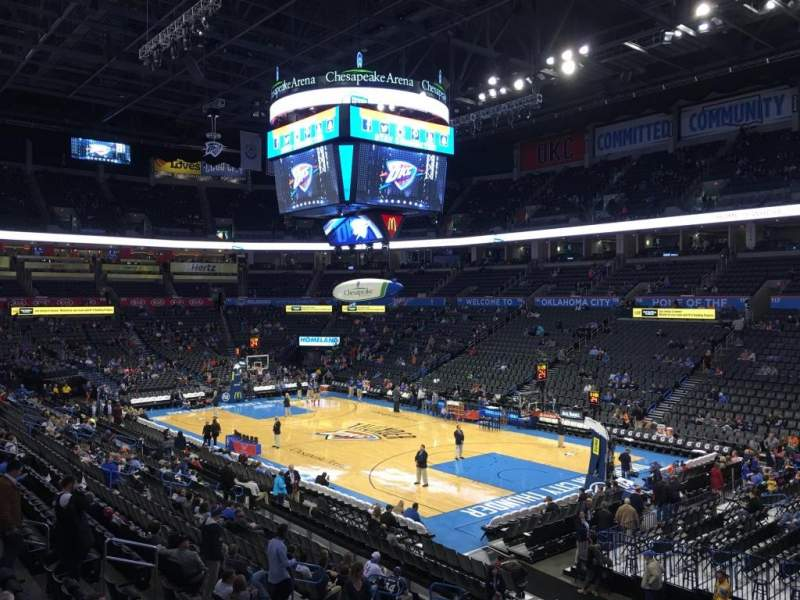Seating view for Chesapeake Energy Arena Section 103