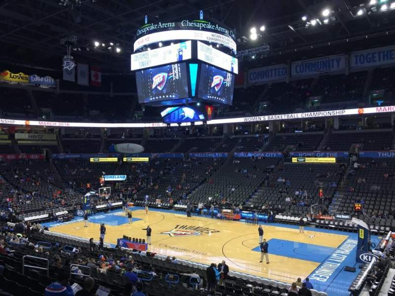 Seating view for Chesapeake Energy Arena Section 104