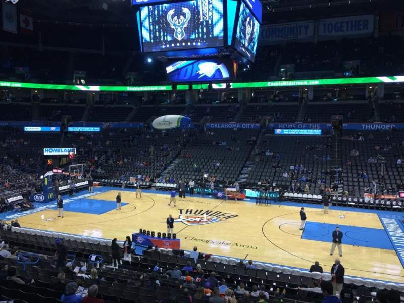 Seating view for Chesapeake Energy Arena Section 105