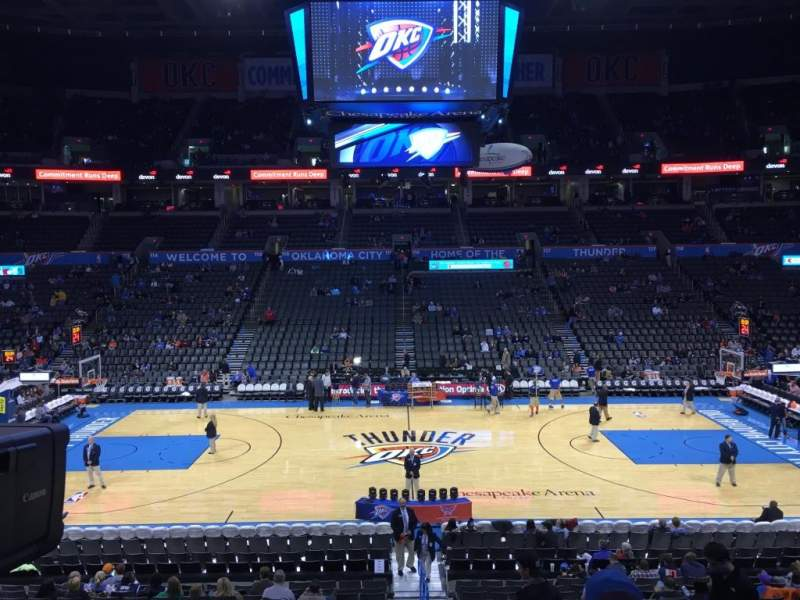 Seating view for Chesapeake Energy Arena Section 106