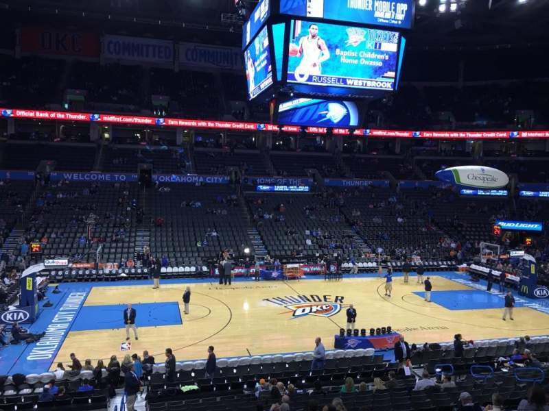 Seating view for Chesapeake Energy Arena Section 107