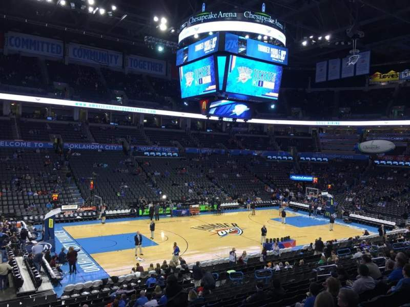 Seating view for Chesapeake Energy Arena Section 108