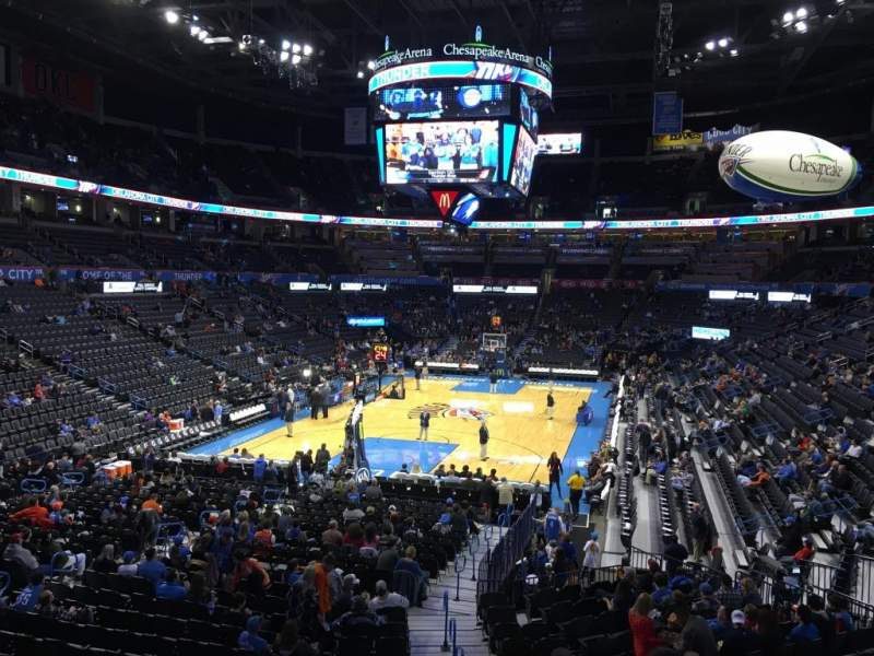 Seating view for Chesapeake Energy Arena Section 110