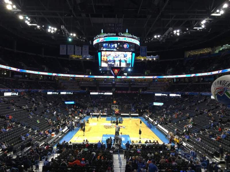 Seating view for Chesapeake Energy Arena Section 111