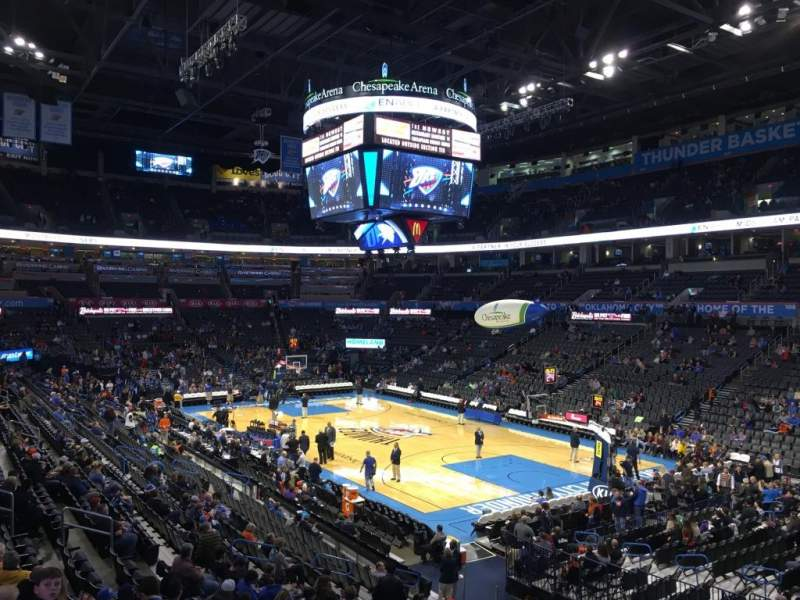 Seating view for Chesapeake Energy Arena Section 113