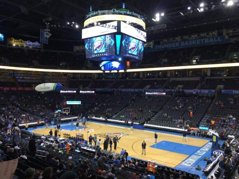Seating view for Chesapeake Energy Arena Section 114