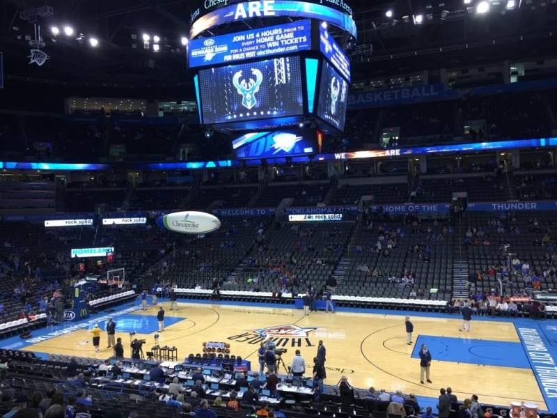 Seating view for Chesapeake Energy Arena Section 115