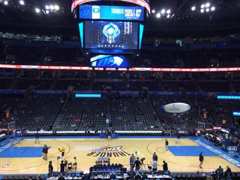 Seating view for Chesapeake Energy Arena Section 116