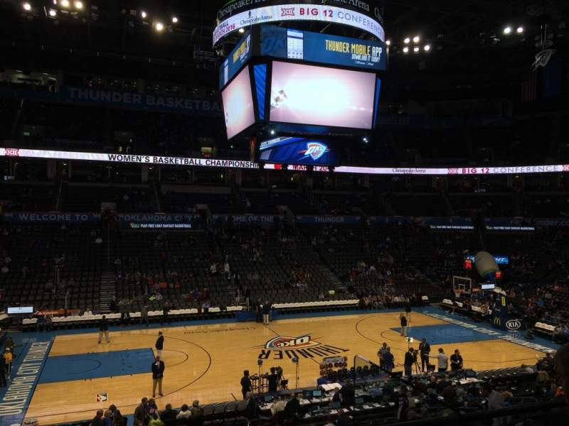Seating view for Chesapeake Energy Arena Section 117