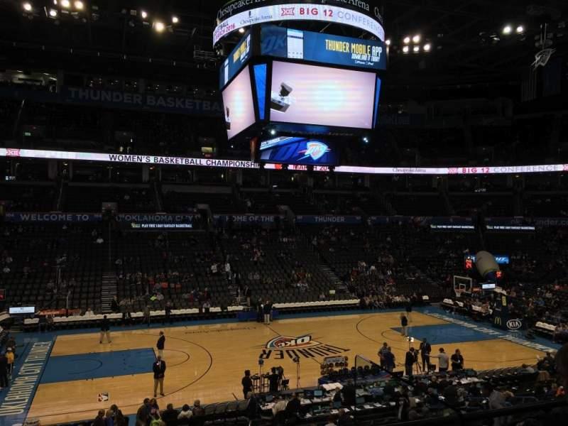 Chesapeake Energy Arena, section: 118