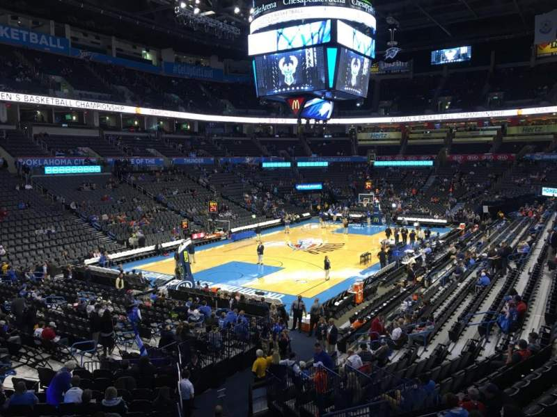 Seating view for Chesapeake Energy Arena Section 119