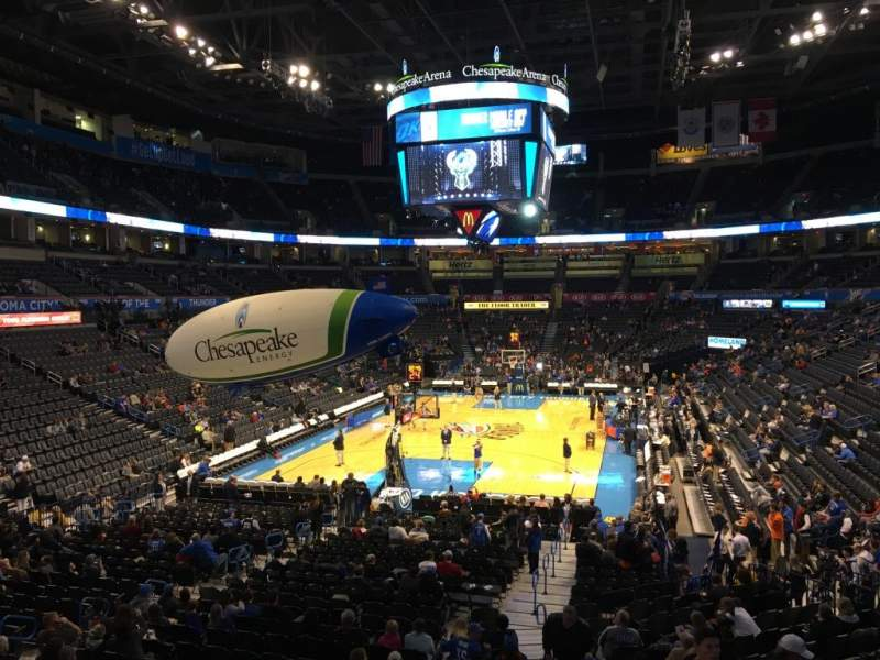 Seating view for Chesapeake Energy Arena Section 120