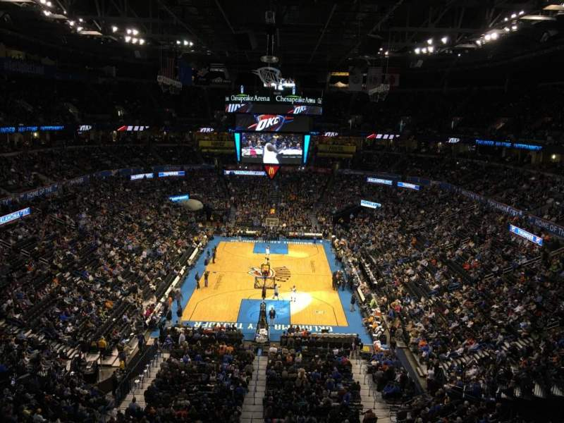 Seating view for Chesapeake Energy Arena Section 301