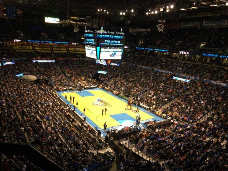 Seating view for Chesapeake Energy Arena Section 304
