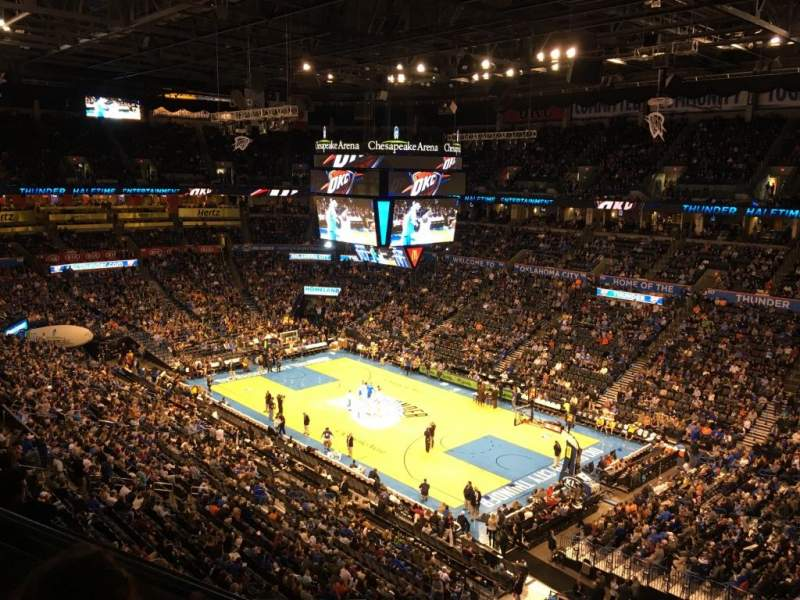 Seating view for Chesapeake Energy Arena Section 305