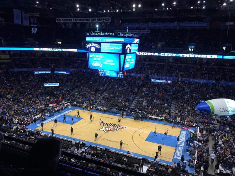 Seating view for Chesapeake Energy Arena Section 309