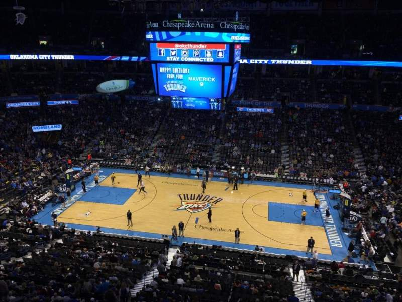 Seating view for Chesapeake Energy Arena Section 310
