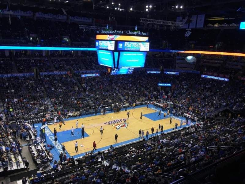 Seating view for Chesapeake Energy Arena Section 311