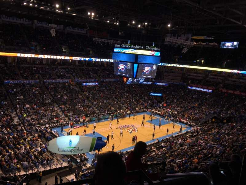 Seating view for chesapeake energy arena Section 312