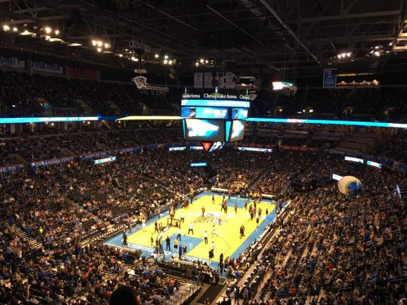 Seating view for Chesapeake Energy Arena Section 314