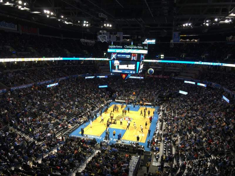 Seating view for Chesapeake Energy Arena Section 315