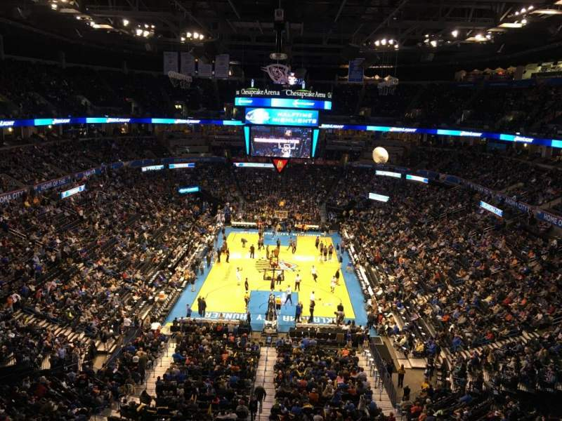 Seating view for Chesapeake Energy Arena Section 316
