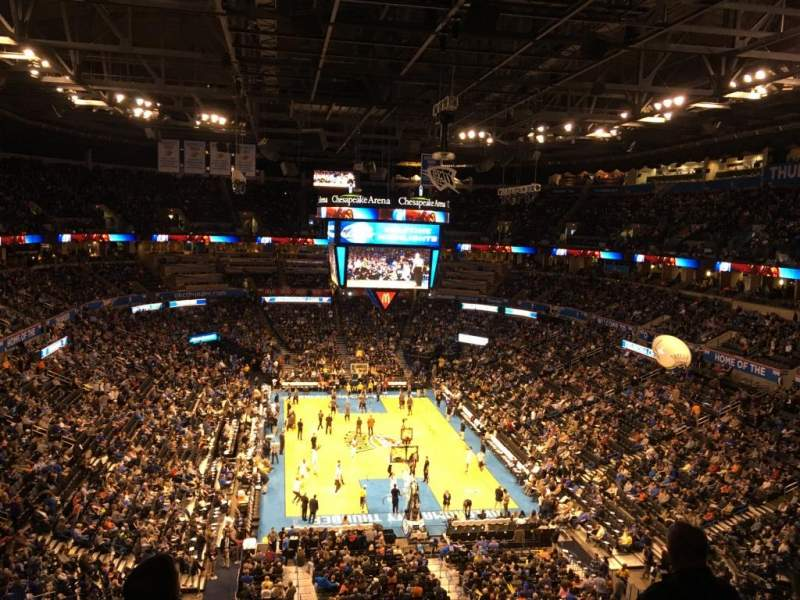 Seating view for Chesapeake Energy arena Section 317
