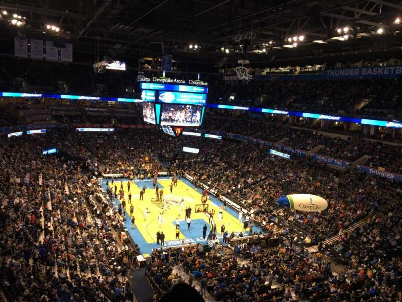 Seating view for Chesapeake Energy Arena Section 318