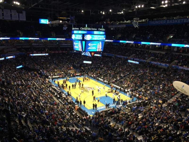 Seating view for Chesapeake Energy Arena Section 319
