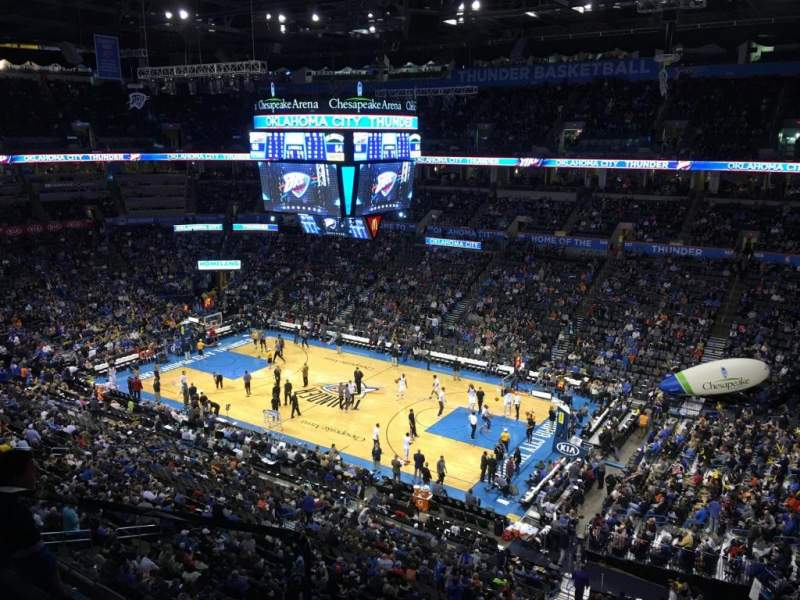 Seating view for Chesapeake Energy Arena Section 321